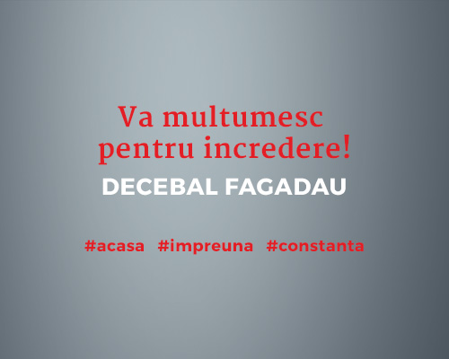 Va multumesc pentru incredere - Decebal Fagadau